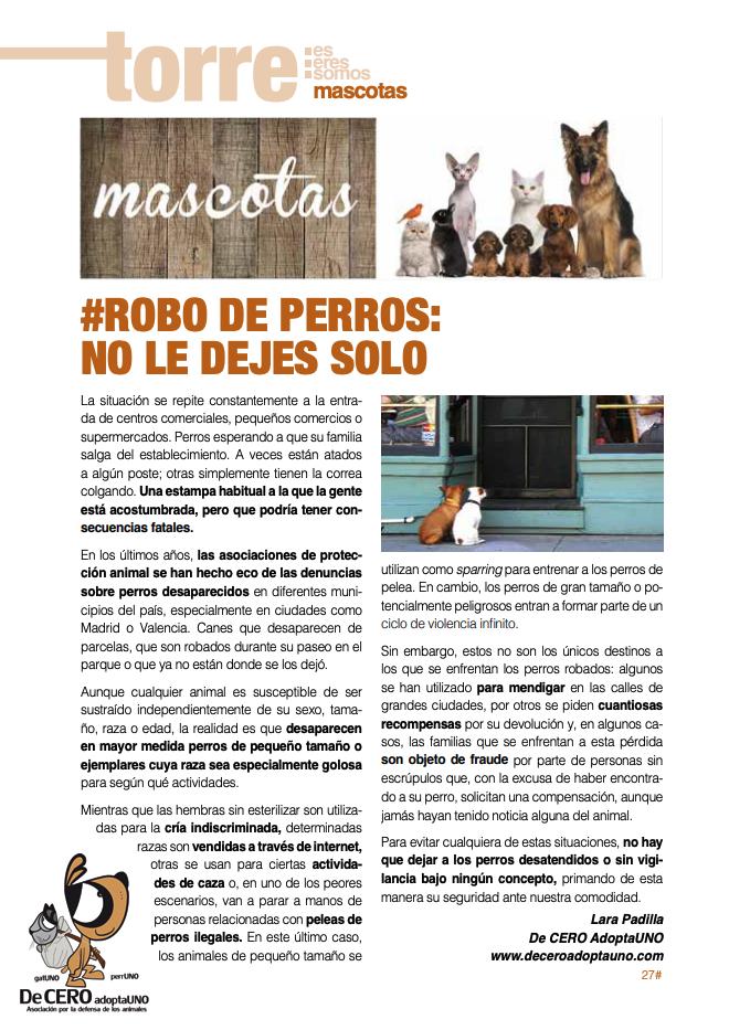 Robo de perros: no le dejes solo